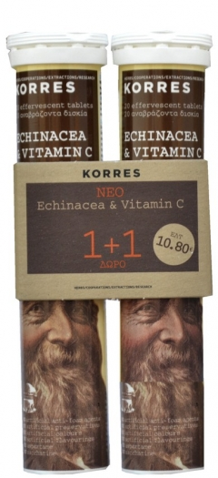 KORRES Echinacea & Vitamin C 20 αναβράζουσες ταμπλέτες 1+1