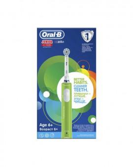 Oral-B Junior Ηλεκτρική Οδοντόβουρτσα Για Παιδιά Ηλικίας 6+ Χρώμα Πράσινο 1τμχ