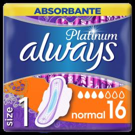Always Σερβιέτες Platinum Ultra Normal με φτερά No1 16τμχ