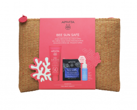 Apivita Set Bee Sun Safe Hydra Fresh Face Gel-Cream SPF50 50ml + Aqua Beelicious Booster 10ml + Express Beauty Face Mask Sea Lavender 2x8ml