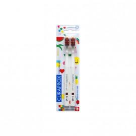 Curaprox CS 5460 Ultra Soft Duo Pop Art Edition Λευκές Οδοντόβουρτσες 2τμχ