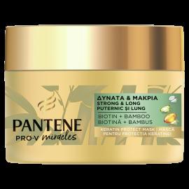 Pantene Pro-V Miracles Μάσκα Προστασίας Κερατίνης Δυνατά & Μακριά Μαλλιά Με Μπαμπού Και Βιοτίνη 160ml