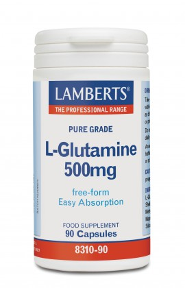 LAMBERTS L-GLUTAMINE 500MG 90CAPS
