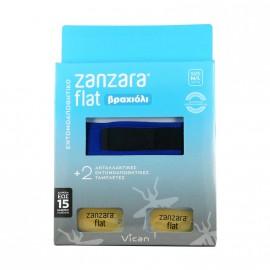 VICAN ZANZARA Flat Βραχιόλι Μπλε με δύο Εντομοαπωθητικές Ταμπλέτες M/L
