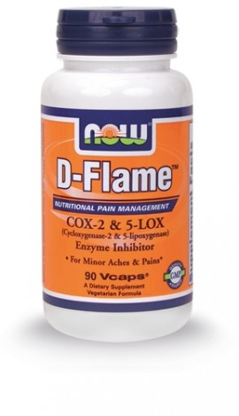 Now Foods D-Flame COX-2 & 5-LOX Enzyme Inhibitor Formula 90Vcaps