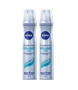 Nivea Volume Care Styling Spray No4 Σπρέι Μαλλιών 2x250ml