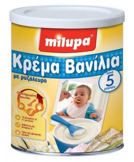 Milupa Κρέμα Βανίλια Ρυζάλευρο Από 5 Μηνών, 300gr