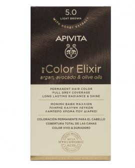 Apivita My Color Elixir kit Μόνιμη Βαφή Μαλλιών 5.0 ΚΑΣΤΑΝΟ ΑΝΟΙΧΤΟ