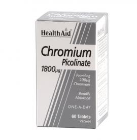 HEALTH AID CHROMIUM PICOLINATE 200ΜG 60S