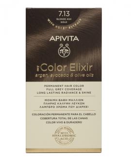 Apivita My Color Elixir kit Μόνιμη Βαφή Μαλλιών 7.13 ΞΑΝΘΟ ΣΑΝΤΡΕ ΜΕΛΙ
