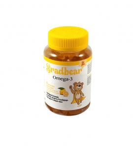 Bradex Bradbear Omega-3 με Γεύση Λεμόνι 60 Gummy Bears