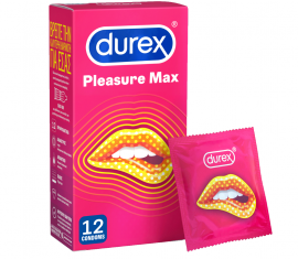 Durex Pleasure Max Προφυλακτικά 12τμχ