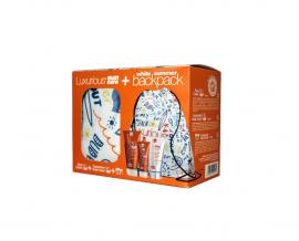 Intermed Luxurious Suncare Set Face Cream SPF50 50ml & Sunscreen Body Cream SPF30 200ml & After Sun Cooling Gel Face & Body 150ml & White Summer Backpack