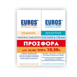 Eubos Promo Feminin Washing Emulsion 200ml + Eubos Sensitive Shower & Cream 100ml