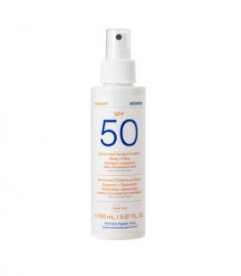 Korres Yoghurt Sunscreen Spray Emulsion Face & Body Spf50 for Sensitive Skin 150ml
