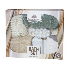 Vican Balmy Naturel Bath Set With Savana Soap Ολοκληρωμένο σετ Περιποίησης Μπάνιου 8τμχ