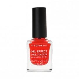Korres Βερνίκι Νυχιών Gel Effect Nail Colour No45 Coral 11ml