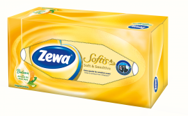 Zewa Softis Soft & Sensitive Επιτραπέζια Χαρτομάντηλα 80τμχ