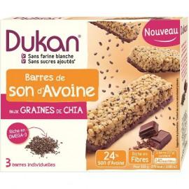 Dukan Μπάρες Βρώμης με Επικάλυψη Σοκολάτας και Σπόρους Chia 111gr