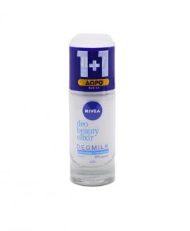 Nivea Deo Milk Beauty Elixir Fresh Roll-On 40ml 1+1 Δώρο