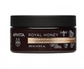 APIVITA ROYAL HONEY Body Scrub with Sea Salts 200gr