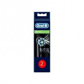 Oral-B Ανταλλακτικές Κεφαλές Cross Action Black Edition 2τμχ