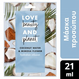 Love Beauty and Planet  FACE SHEET MASK COCONUT 21ML