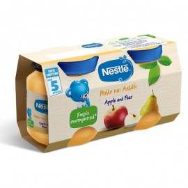 Nestle Παιδική Τροφή με Μήλο και Aχλάδι από 5 Μηνών 2Χ125gr