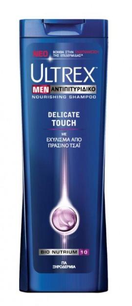 Ultrex Men Αντιπιτυριτιδικό σαμπουάν για Ξηροδερμία delicate touch με εκχύλισμα από πράσινο τσάι 360ml