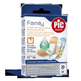 Pic Solution Family Αυτοκόλλητο Τσιρότο για Όλη την Οικογένεια 20τμχ