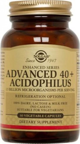 SOLGAR ADVANCED 40+ACIDOPHILUS 60VCAP