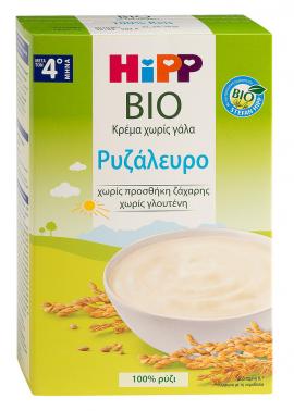 Hipp Βρεφική Κρέμα Ρυζάλευρο Χωρίς Γάλα από τον 4ο μήνα 200gr