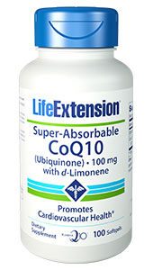 Life Extension Super Absorbale Coq10 D-Limon 100mg 100soft