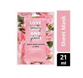 Love Beauty And Planet Muru Muru Butter & Rose Face Sheet Mask 21ml