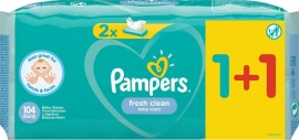 Pampers Fresh Clean Μωρομάντηλα 52τμχ 1+1 Δώρο