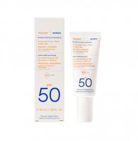 Korres Yoghurt Sunscreen Face & Eyes Cream Gel Spf50 for Sensitive Skin 40ml