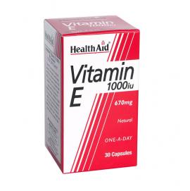 HEALTH AID VITAMIN E 1000IU NATURAL CAPSULES 30S
