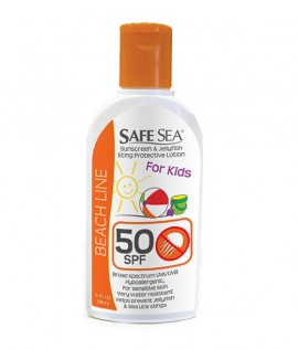 Safe Sea Sunscreen & Jellyfish Sting Protective Lotion for Kids SPF50 118ml