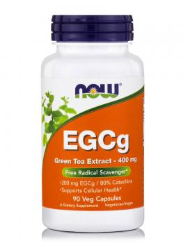 Now Foods EGCg Green Tea Extract 400mg (50% ECGg, 98% Polyphenols) 90Vcaps