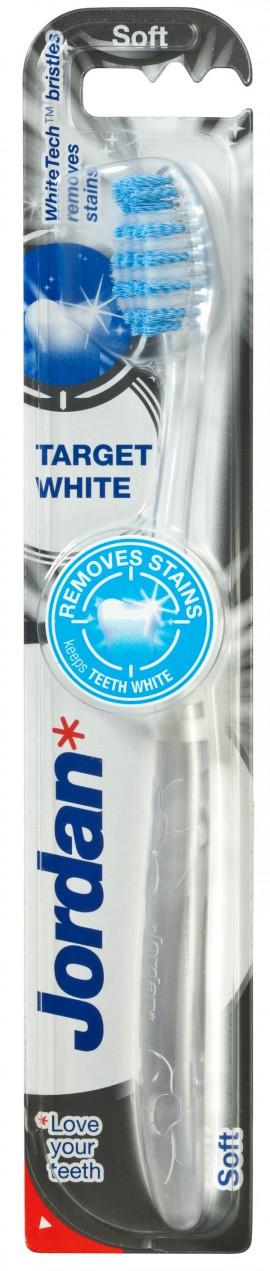 JORDAN Target White Οδοντόβουρτσα Soft 1τμχ.