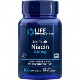 Life Extension No Flush Niacin 640mg 100caps
