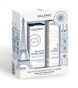 Galenic Set Beaute du Regard Creme Cryo-Booster Κρέμα Ματιών Πολλαπλής Δράσης 15ml & ΔΩΡΟ Teint Lumiere Flash Touch-Up Πινέλο για Μαύρους Κύκλους & τα Σημάδια της Κούρασης 2ml