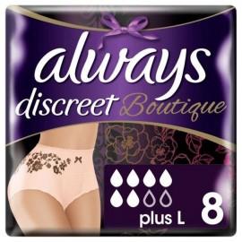 Always Discreet Boutique Pants Plus Large 8τμχ για την Ακράτεια