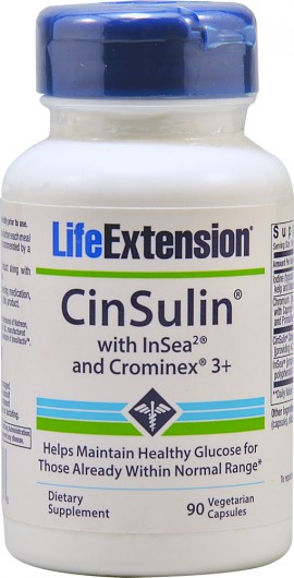 Life Extension Cinsulin 90caps
