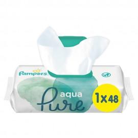 Pampers Aqua Pure Wipes 48τμχ 1+1 Δώρο