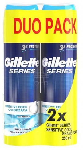Gillette Series Sensitive Cool Shave Foam 2 X 250ml