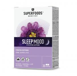 Superfoods Sleep Mood Συμπλήρωμα Διατροφής Για Την Μείωση Της Αϋπνίας 30caps