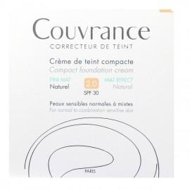 Avene Couvrance Creme de teint compacte FINI MAT SPF30 Naturel 2.0 10g