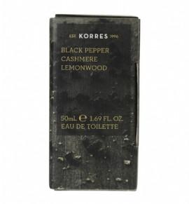 KORRES Eau de Toilette Black Pepper, Cashmere & Lemonwood Ανδρικό Άρωμα 50ml