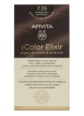 Apivita My Color Elixir kit Μόνιμη Βαφή Μαλλιών 7.35 ΞΑΝΘΟ ΜΕΛΙ ΜΑΟΝΙ